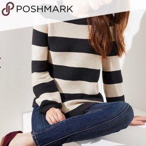 Striped sweater from Loft